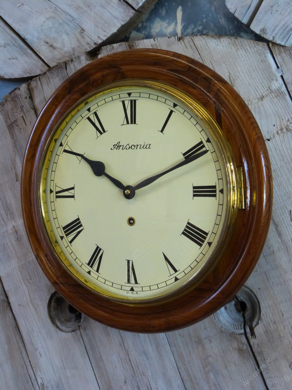 Antiques Atlas Ansonia Railway Wall Clock