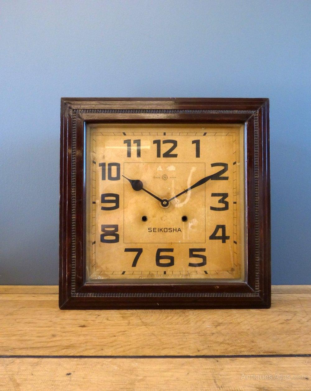 Antiques Atlas Art Deco Japanese Wall Clock