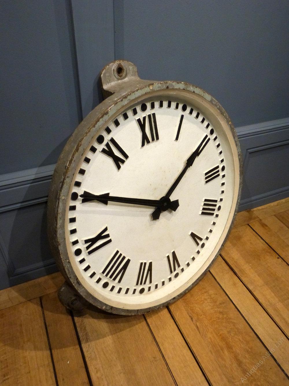 Antiques Atlas Cast Iron Railway Clock