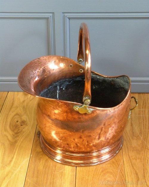 Antiques Atlas Copper Helmet Coal Scuttle
