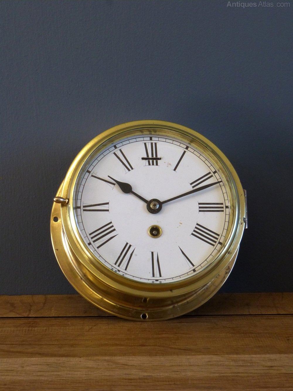 Antiques Atlas Empire Brass Ships Clock