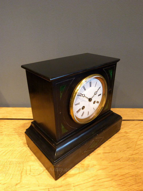 Antiques Atlas French 8 Day Slate Mantel Clock