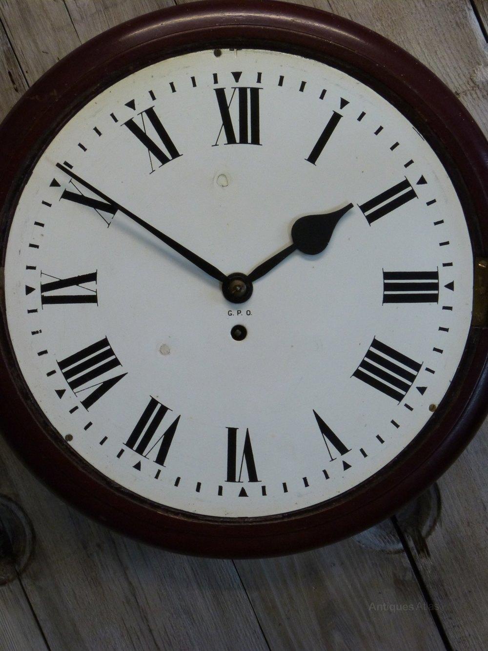 Antiques Atlas G P O Fusee Wall Clock