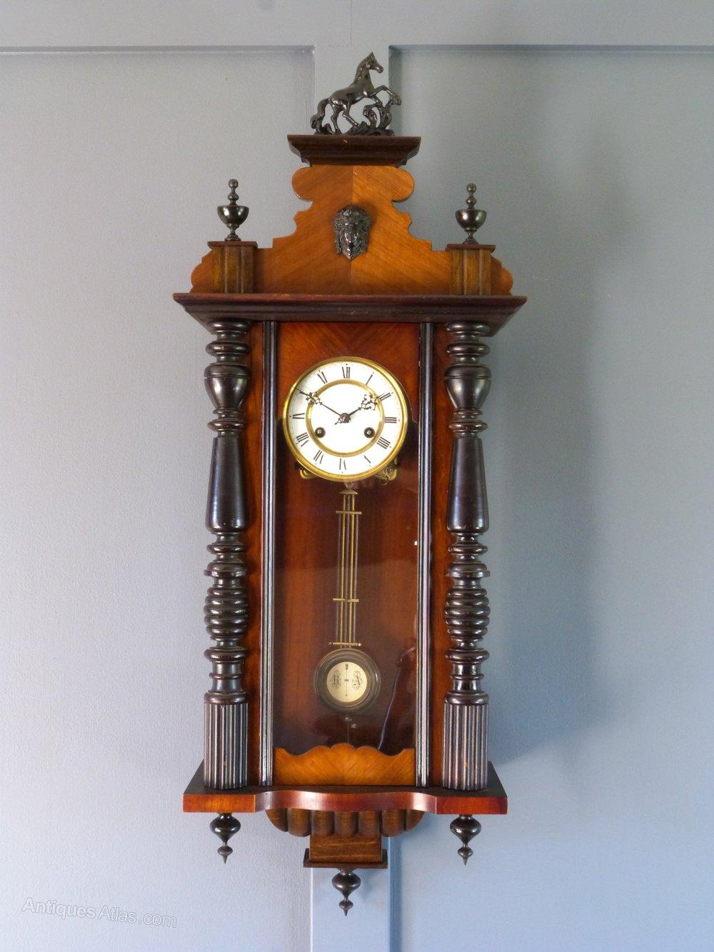 Antiques Atlas German 8 Day Striking Wall Clock