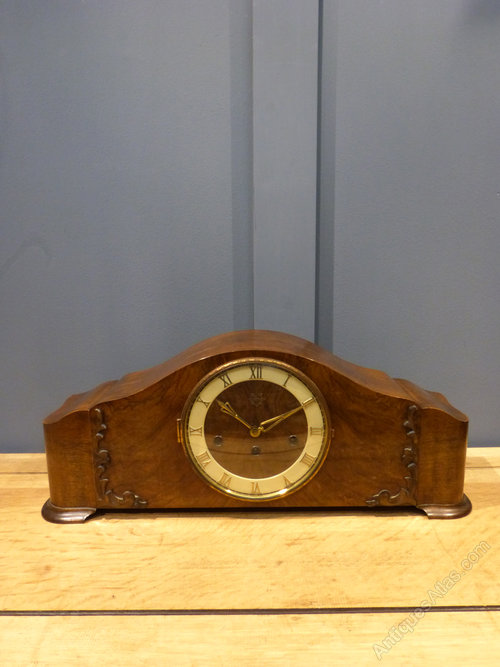 Antiques Atlas - German Walnut Mantel Clock