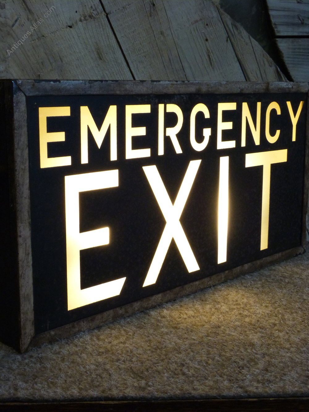 Antiques Atlas Illuminated Exit Sign