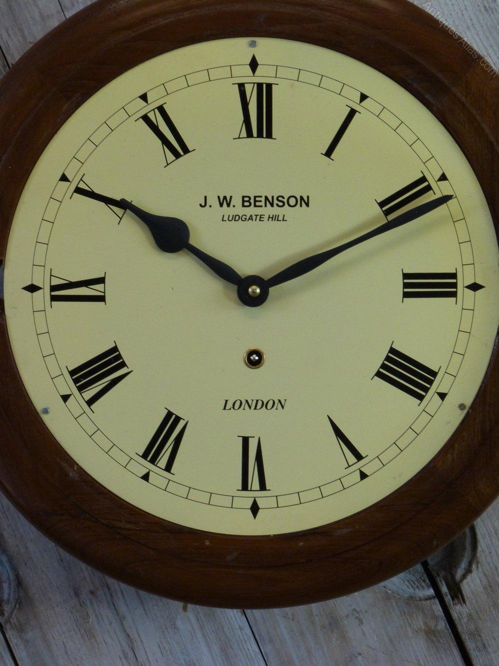 Antiques Atlas J W Benson 8 Day Wall Clock