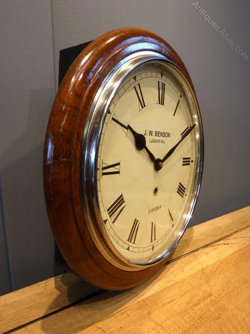 Antiques Atlas J W Benson London Station Clock