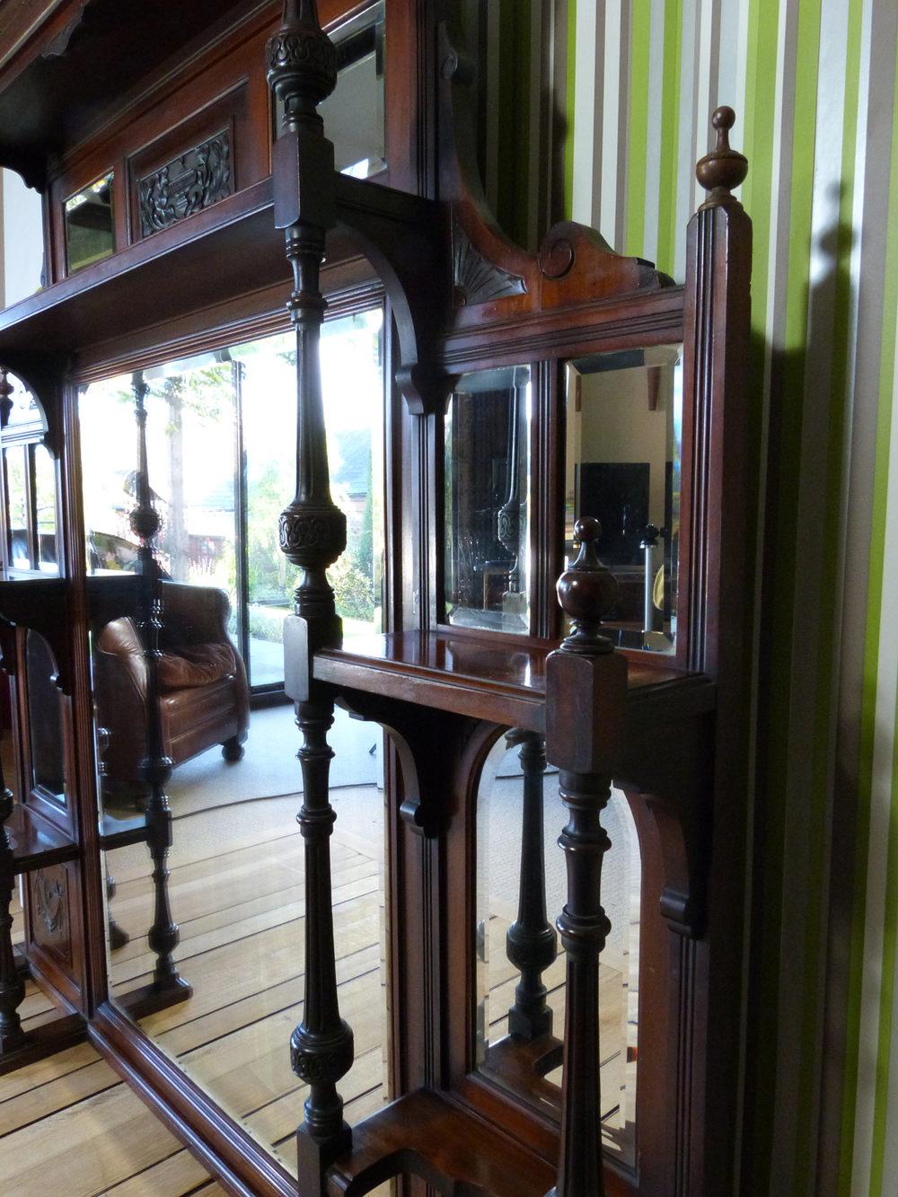 Antiques Atlas Large Victorian Overmantle Mirror