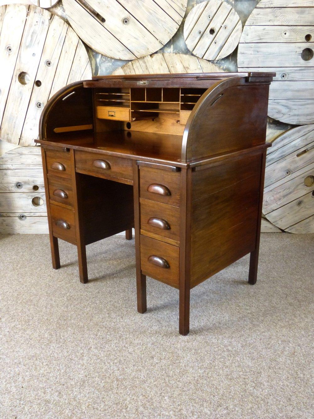 Mahogany Roll Top Desk Antiques Atlas