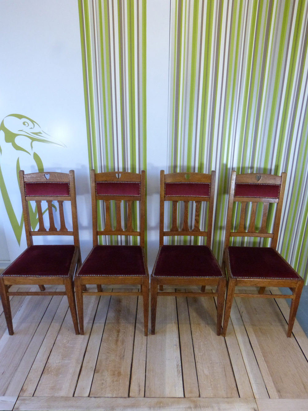 Six arts crafts dining chairs antiques atlas - Arts and crafts dining room furniture ...