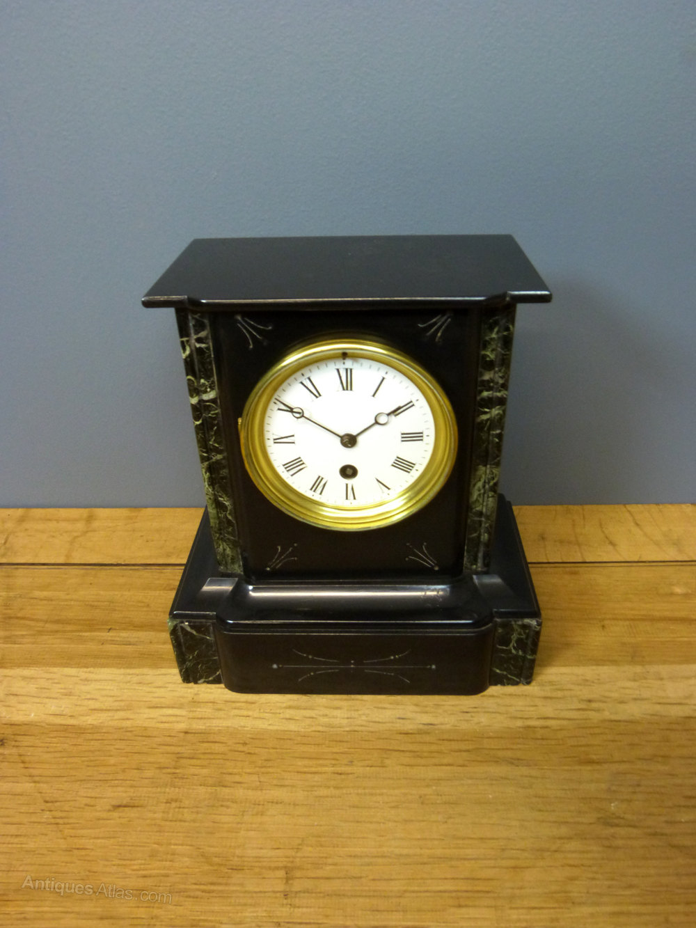 Antiques Atlas Slate Amp Marble Mantel Clock
