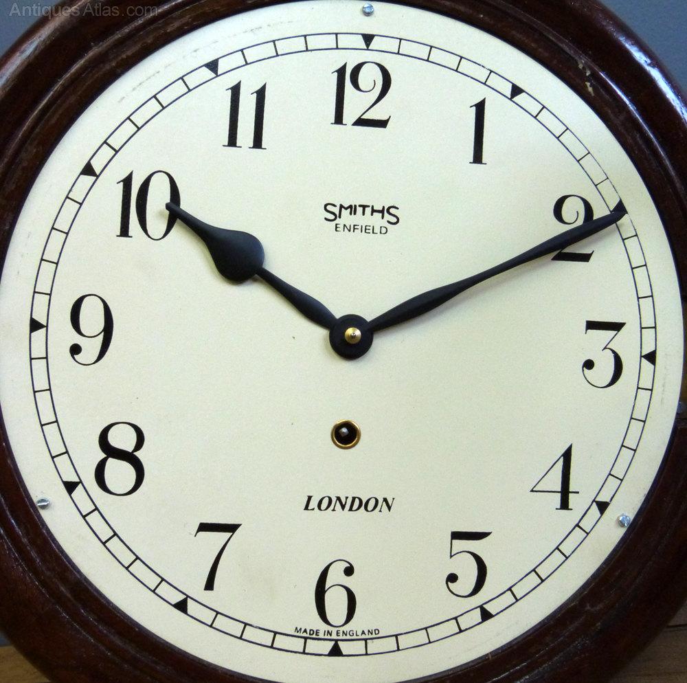 Antiques atlas smiths enfield railway school clock smiths enfield railway school clock antique station wall clocks london wall clock amipublicfo Gallery