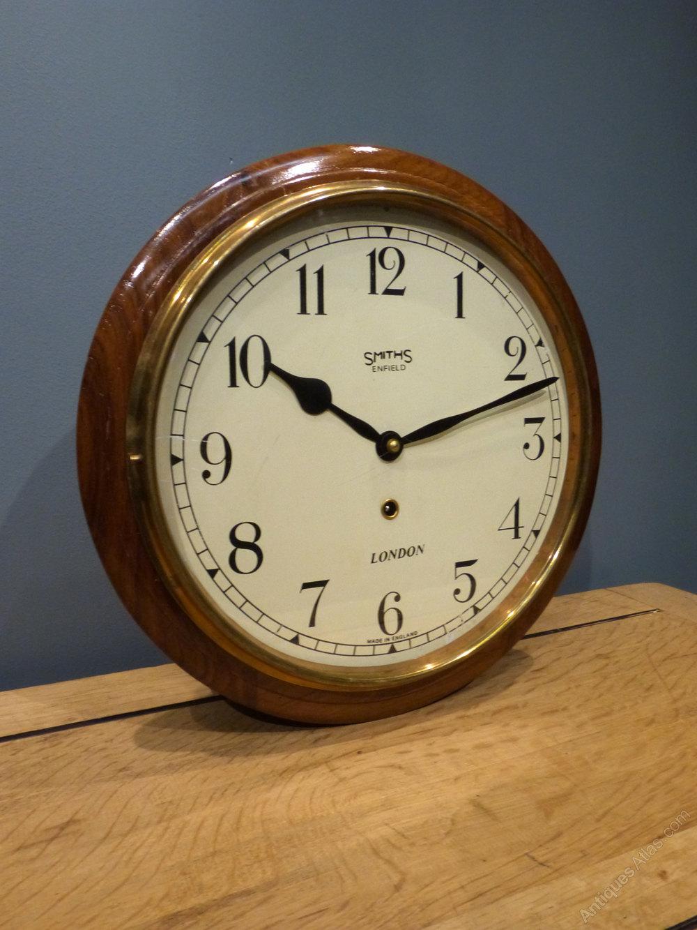 Antiques atlas smiths enfield railway clock smiths enfield railway clock antique station wall clocks smiths smith wall clock amipublicfo Gallery