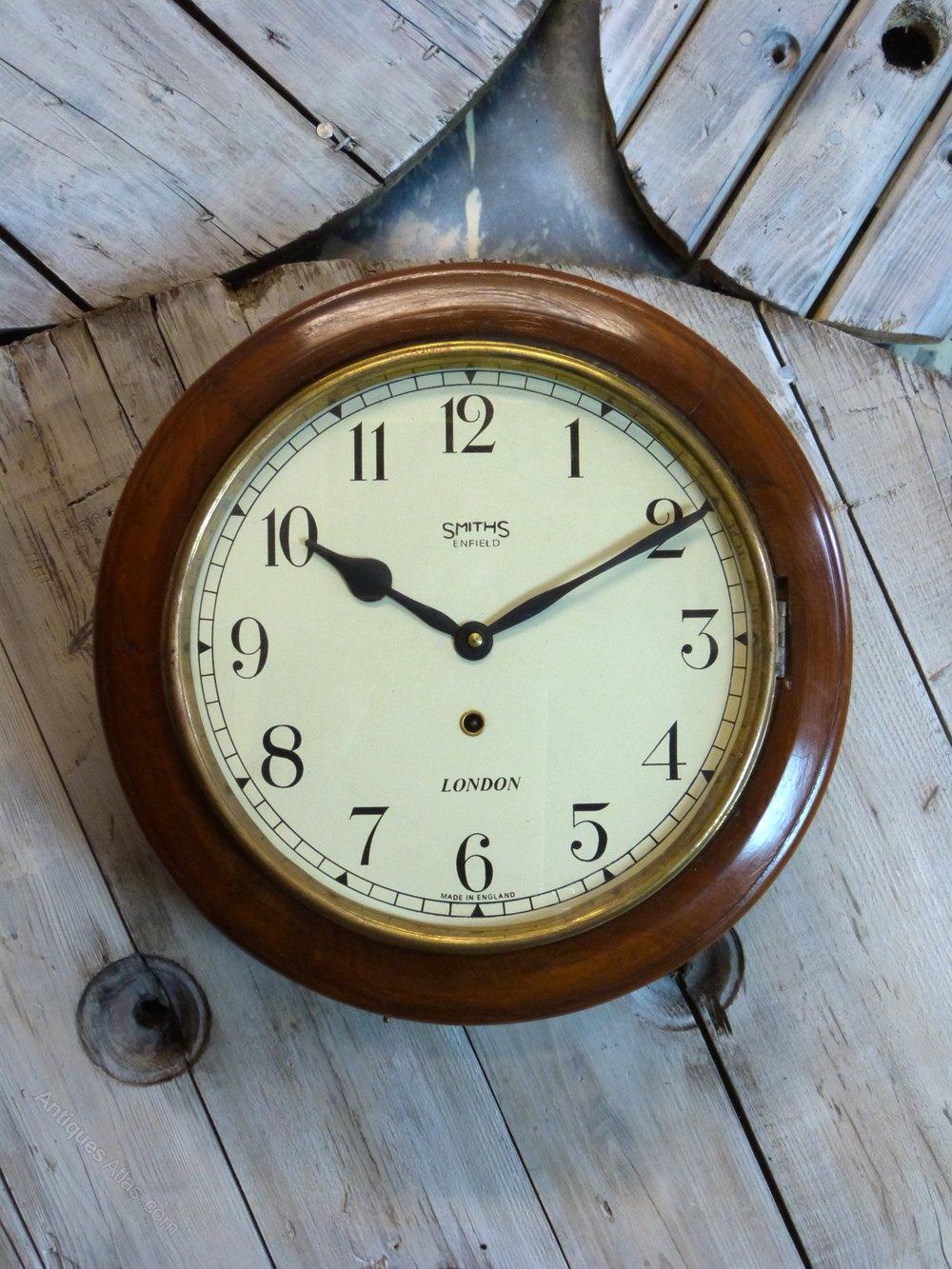 Antiques atlas smiths enfield railway school clock smiths enfield railway school clock antique station wall amipublicfo Gallery
