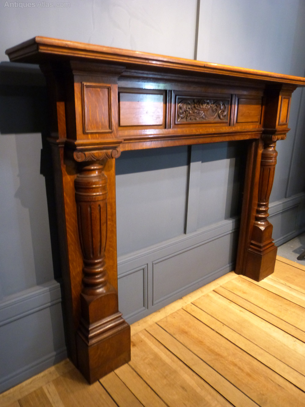 antiques atlas victorian oak fire surround