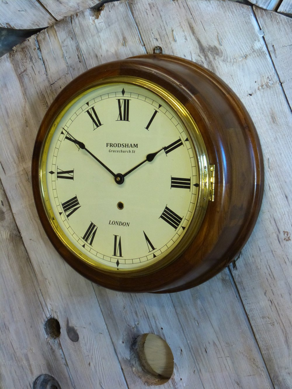 Antiques atlas wooden 39naval39 wall clock for Antique wall clock wood