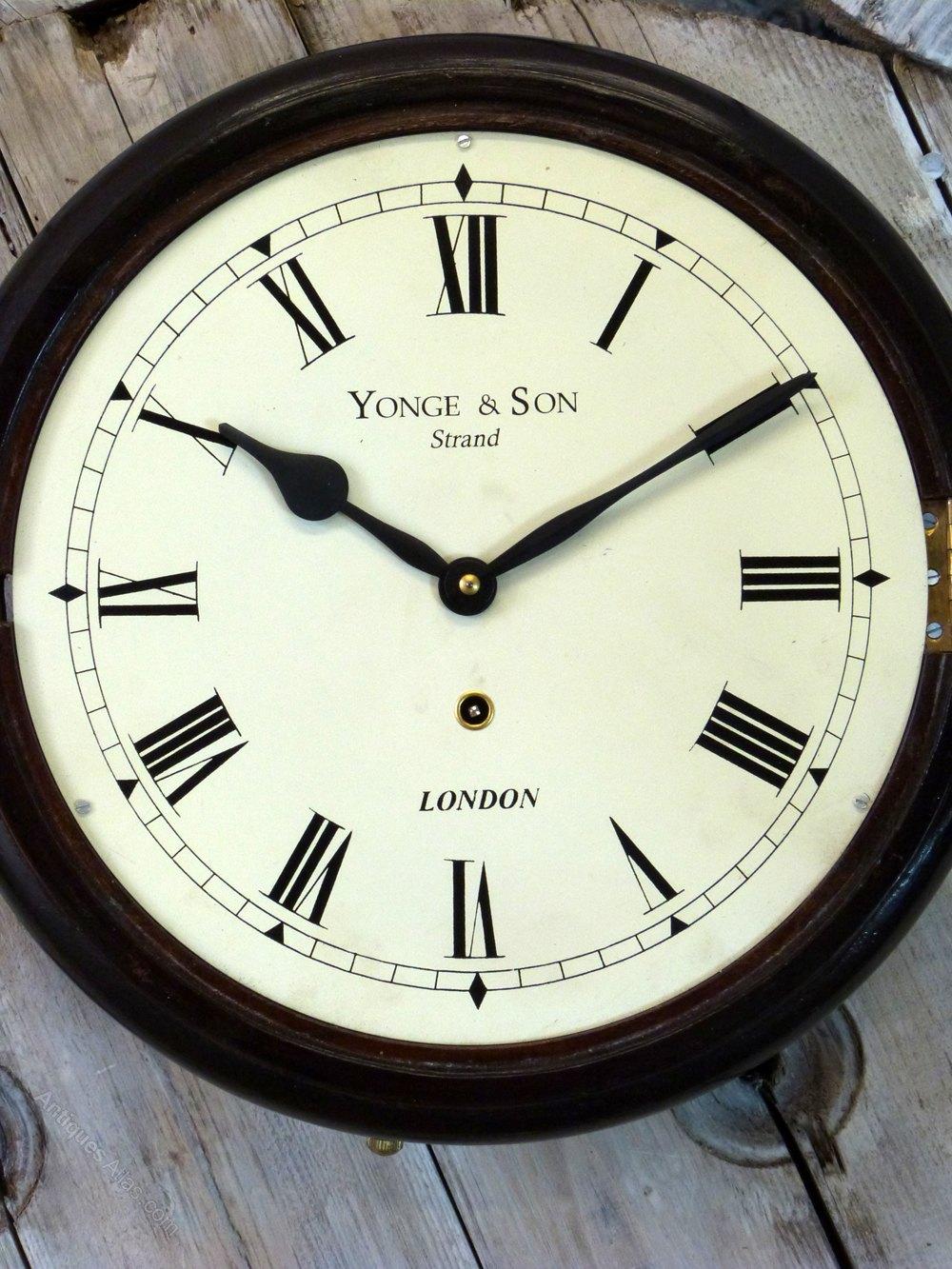 Antiques Atlas Yonge Son Railway Wall Clock