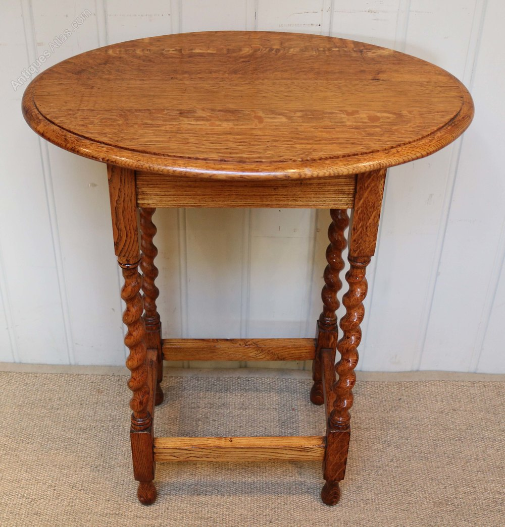 1920s golden oak occasional table antiques atlas for Occasional tables