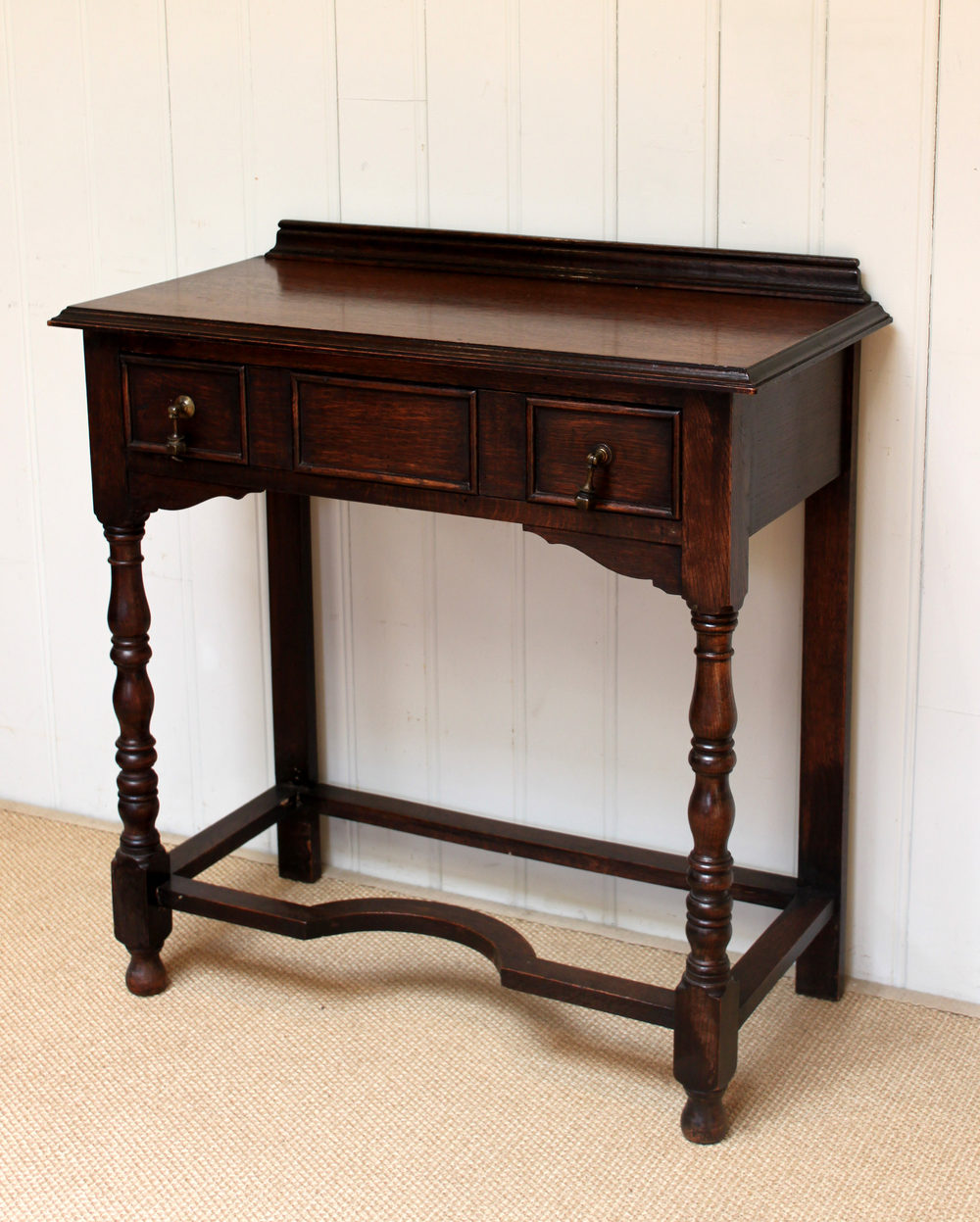 Oak Hall Table ~ S solid oak hall table antiques atlas