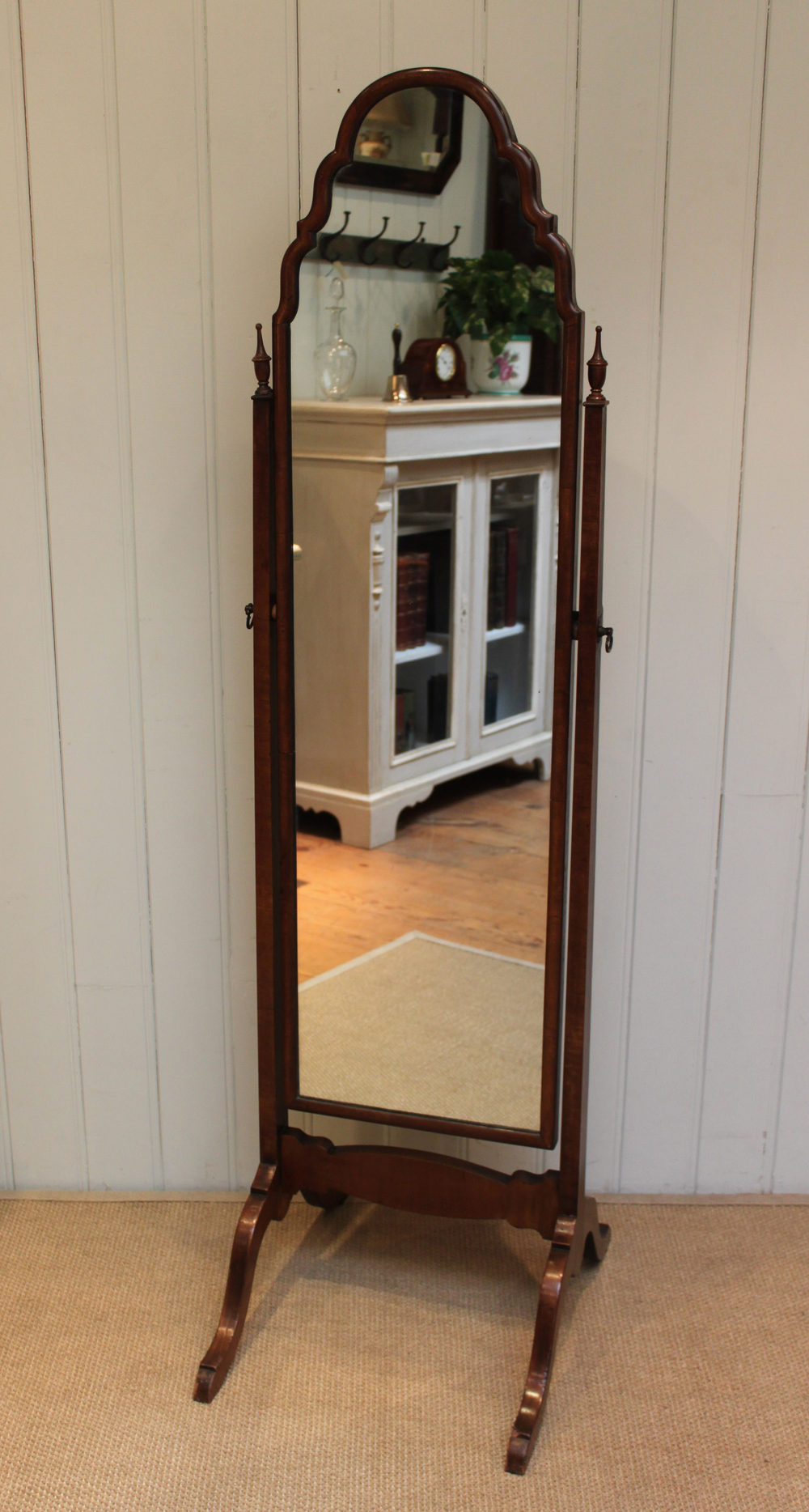 Antiques Atlas 1920s Walnut Cheval Mirror