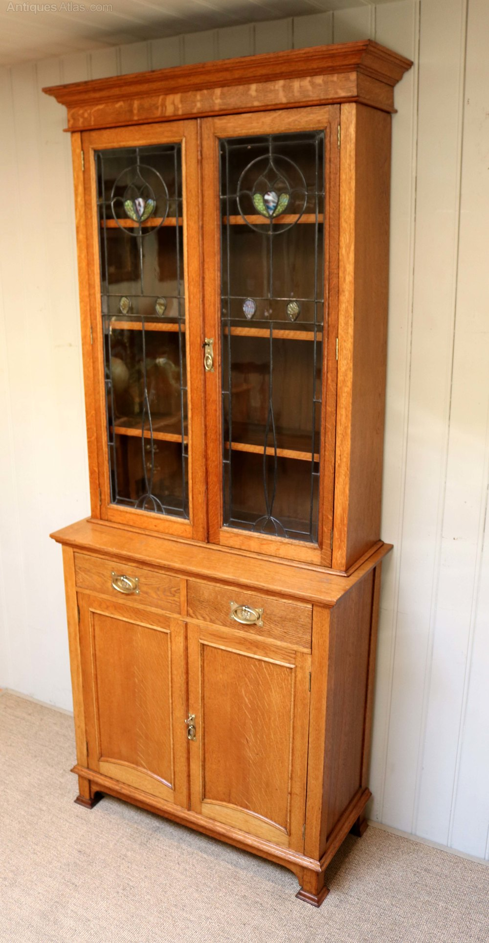 Arts and crafts cabinet bookcase antiques atlas for Arts and crafts storage cabinet