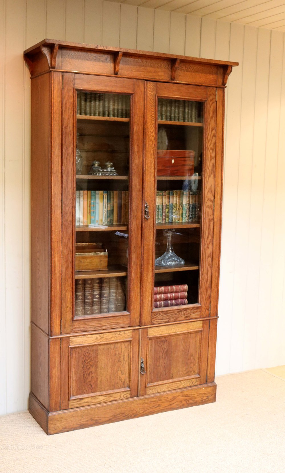 arts and crafts oak bookcase antiques atlas