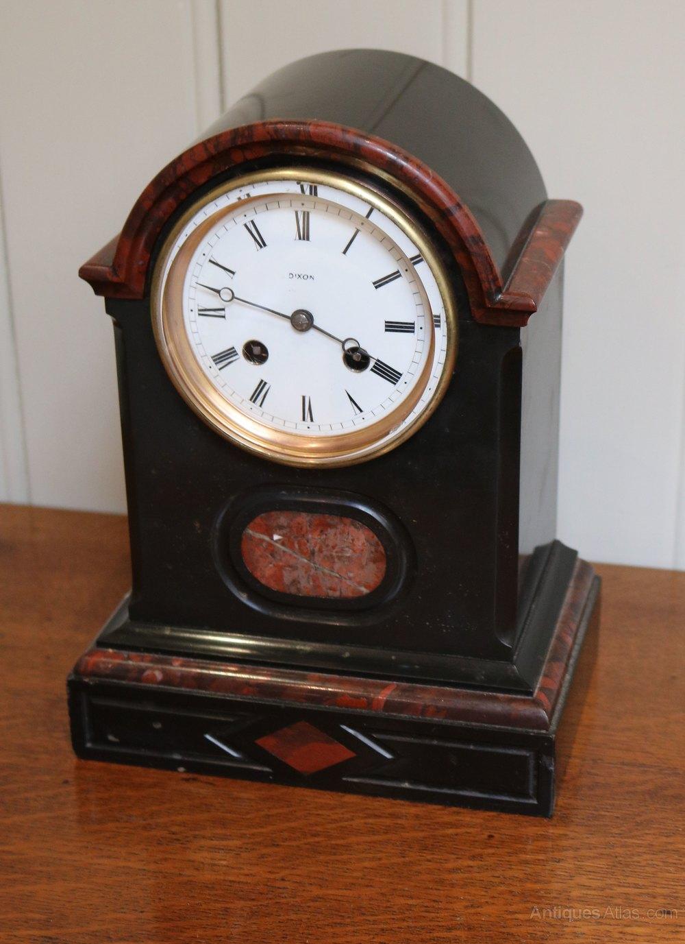 Antiques Atlas Black Marble Mantel Clock France C 1880