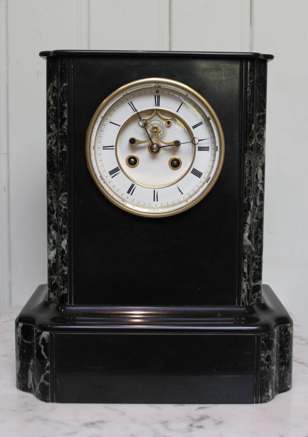 Antiques Atlas Black Slate And Marble Mantel Clock