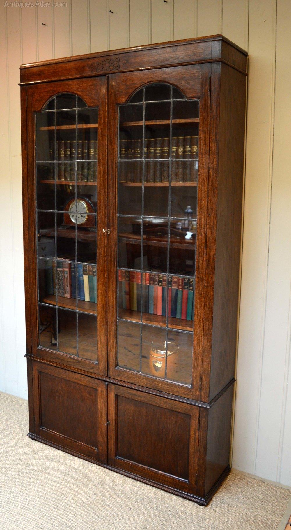 Dark oak cabinet bookcase antiques atlas for Kitchen cabinets 50cm wide