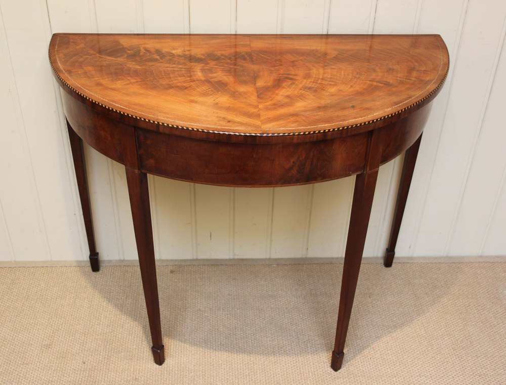 Early 19th century mahogany demi lune table antiques atlas - Table cuisine demi lune ...