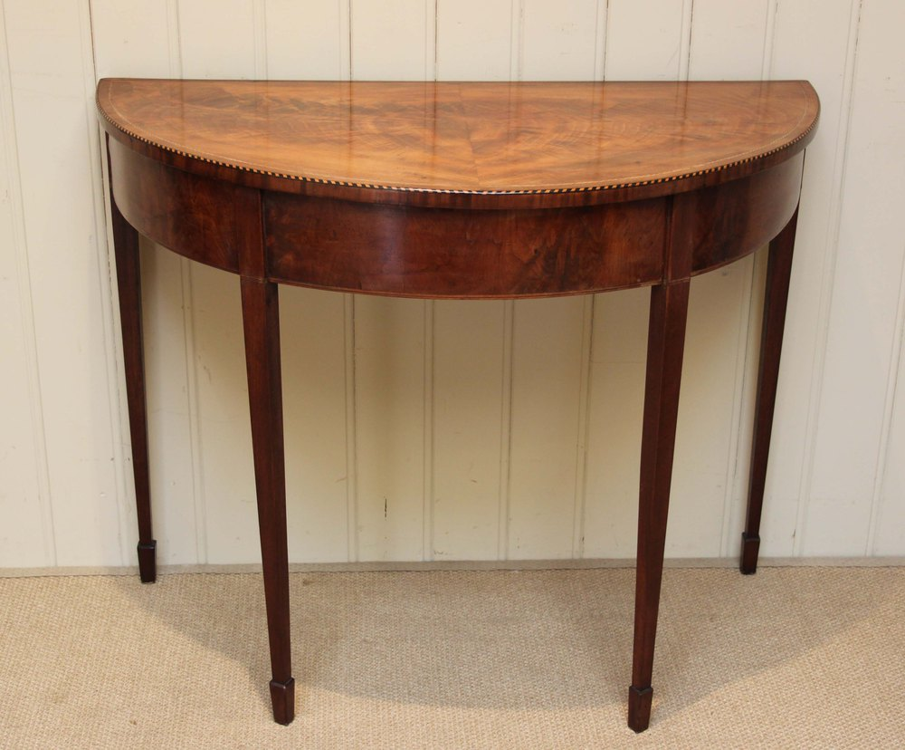 Early 19th century mahogany demi lune table antiques atlas - Table demi lune murale ...