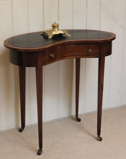 Edwardian kidney shaped desk antiques atlas for Kidney desk for sale