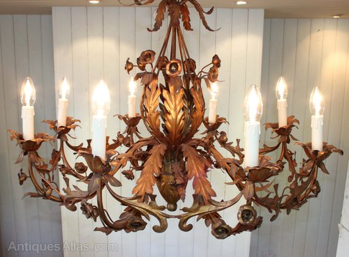 - Antiques Atlas - French Gilded Brass Chandelier