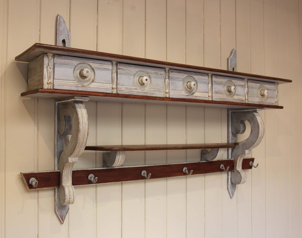 French painted wall shelves antiques atlas french painted wall shelves antique furniture amipublicfo Image collections