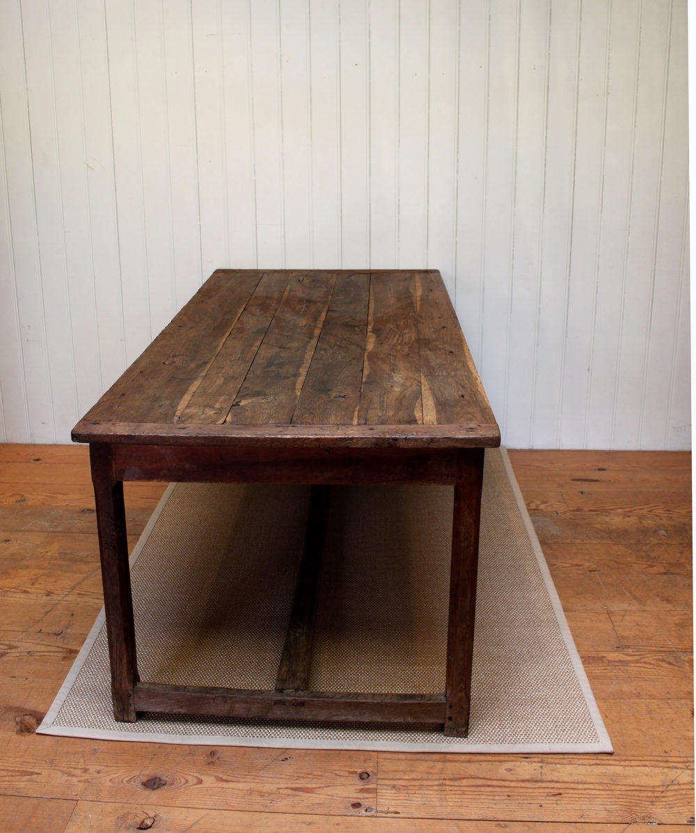 French Solid Oak Farmhouse Dining Table Antiques Atlas