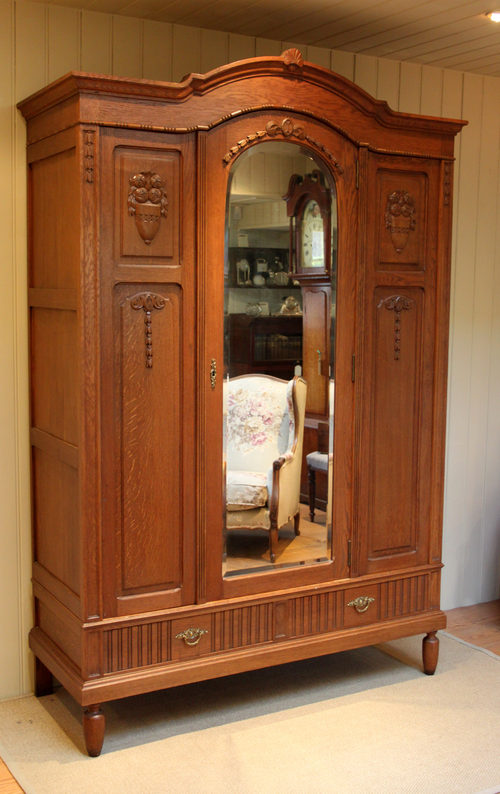 French Solid Oak Wardrobe Antiques Atlas