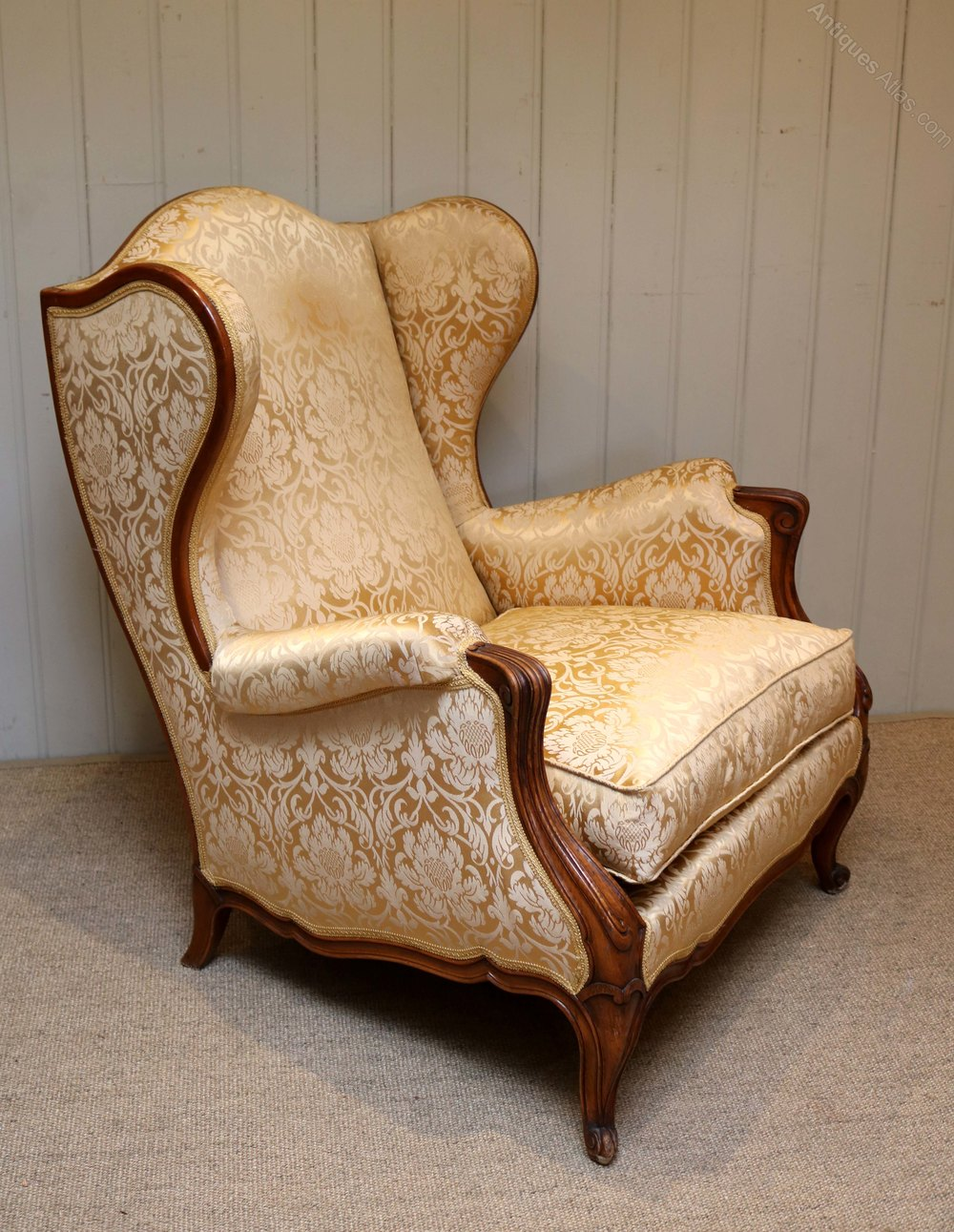 French Walnut Armchair - Antiques Atlas