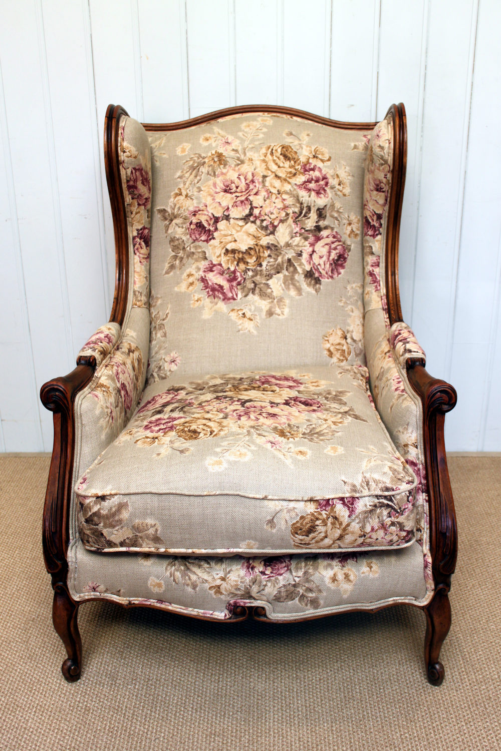 French Wing Armchair - Antiques Atlas