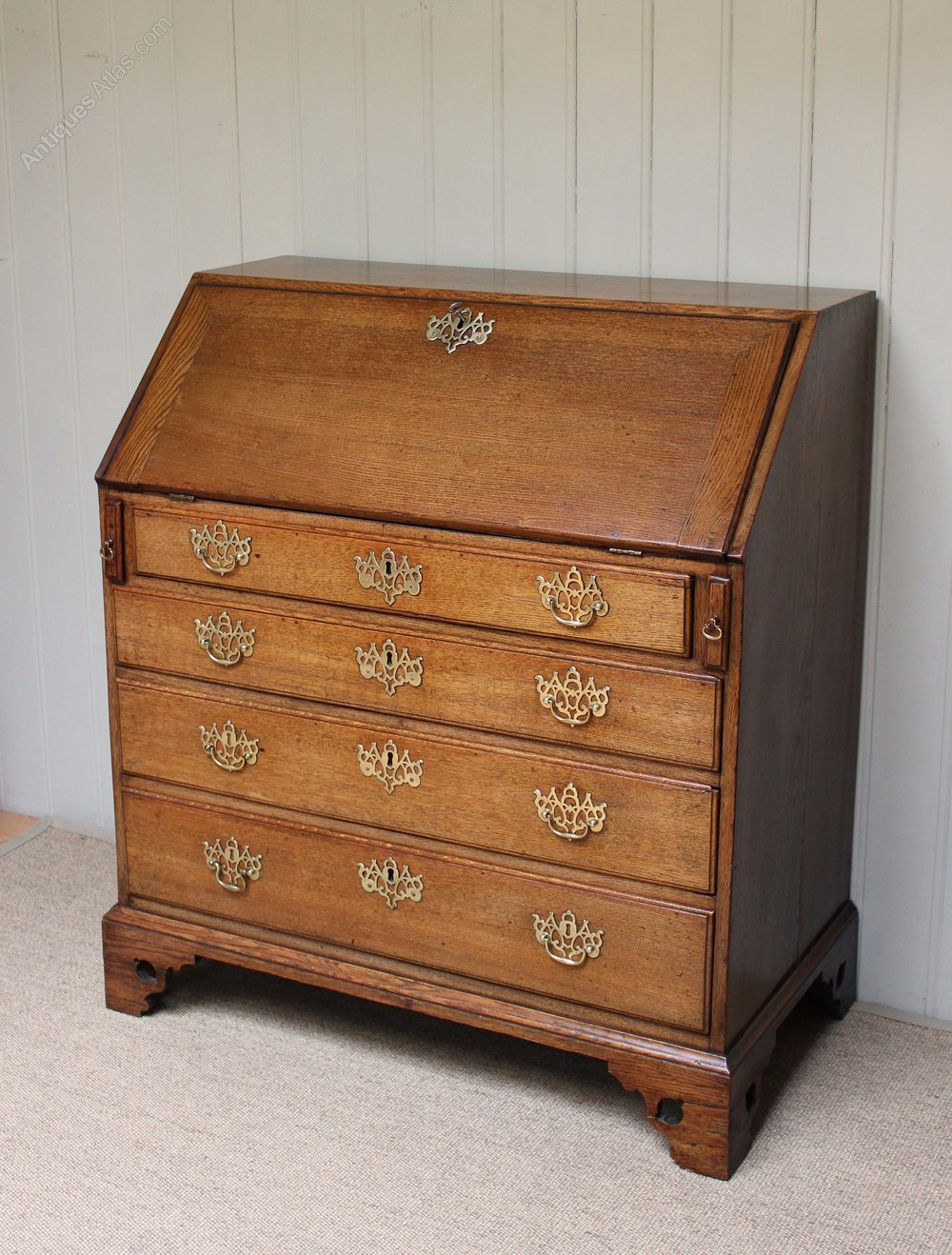 Georgian oak bureau antiques atlas for Bureau antique