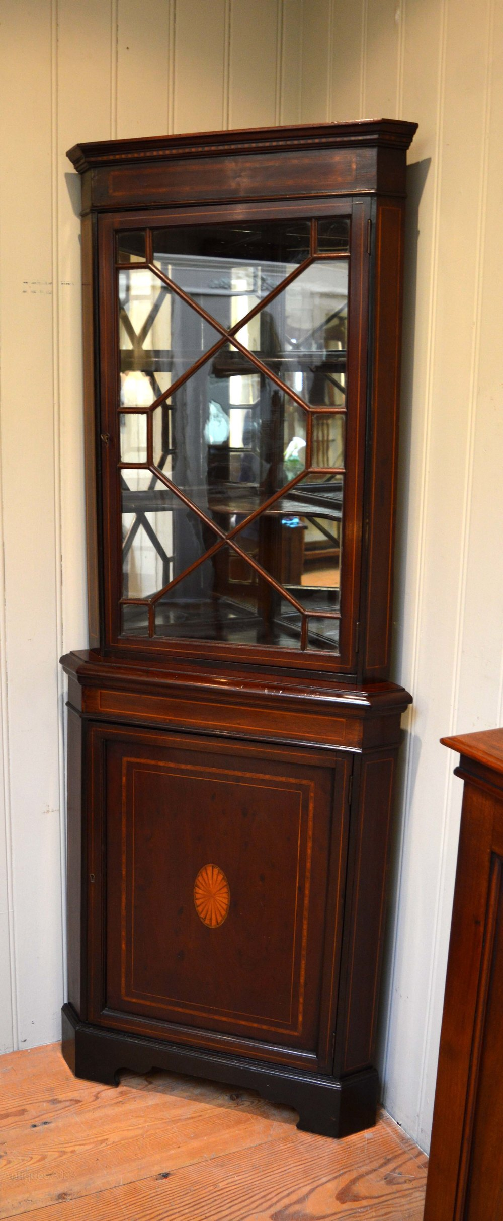 Inlaid Mahogany Corner Cabinet Antiques Atlas