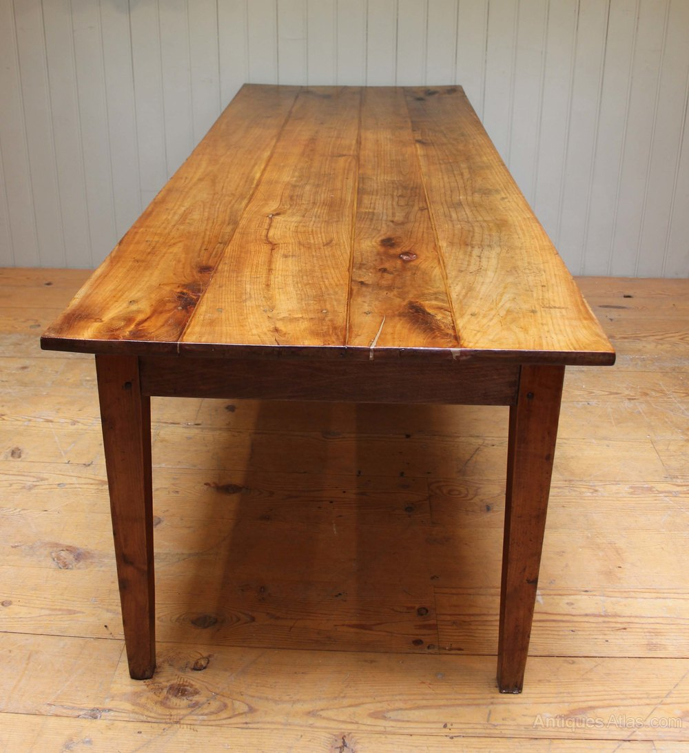 Large Cherrywood Farmhouse Table Antiques Atlas