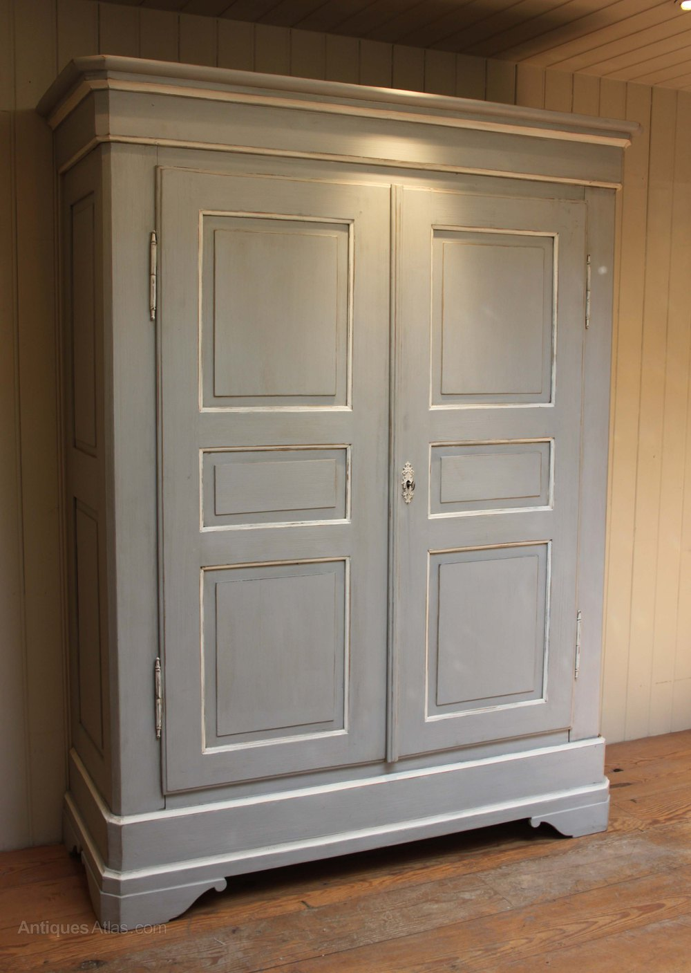 Large Continental Painted Two Door Wardrobe