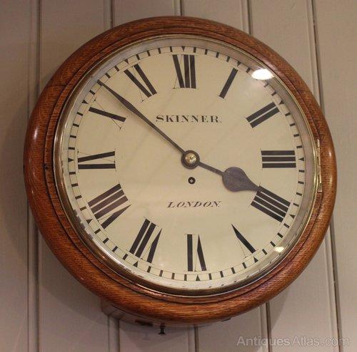 antiques atlas large solid oak fusee cased clock c