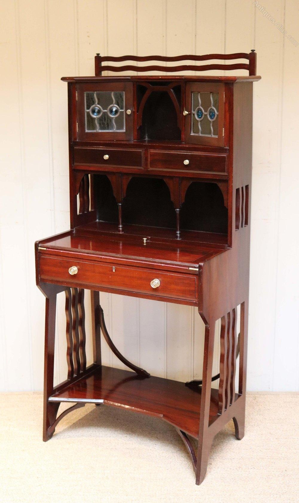 liberty u0026 co arts and crafts mahogany desk antique desks - Mahogany Desk