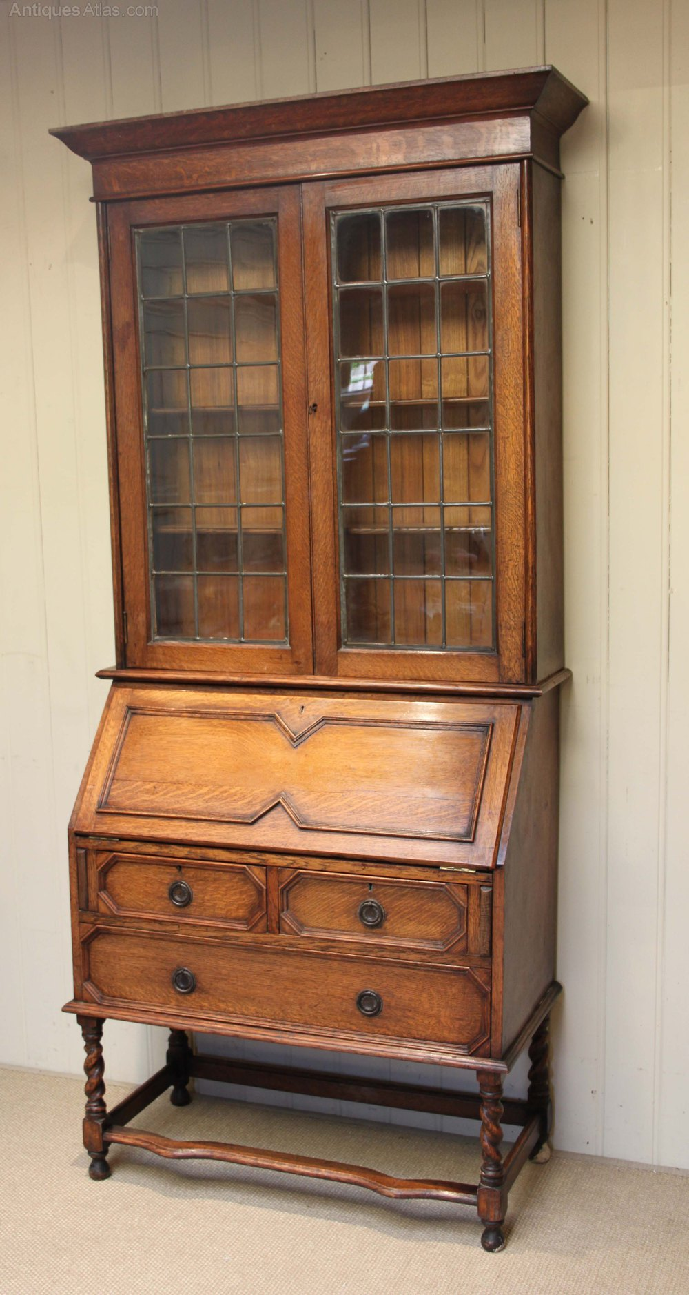 Light Oak Bureau Bookcase Antiques Atlas