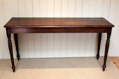 Long mahogany side hall table antiques atlas for Long side table