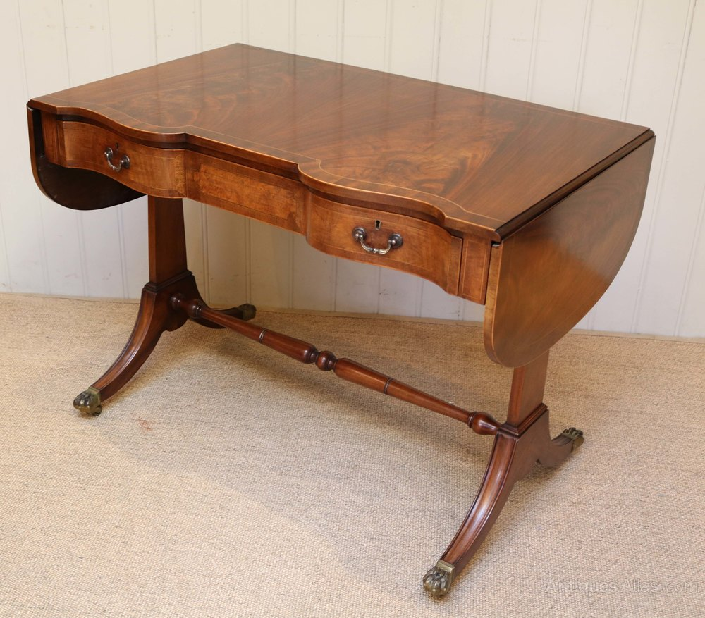 Mahogany drop leaf sofa table antiques atlas for Sofa table antique