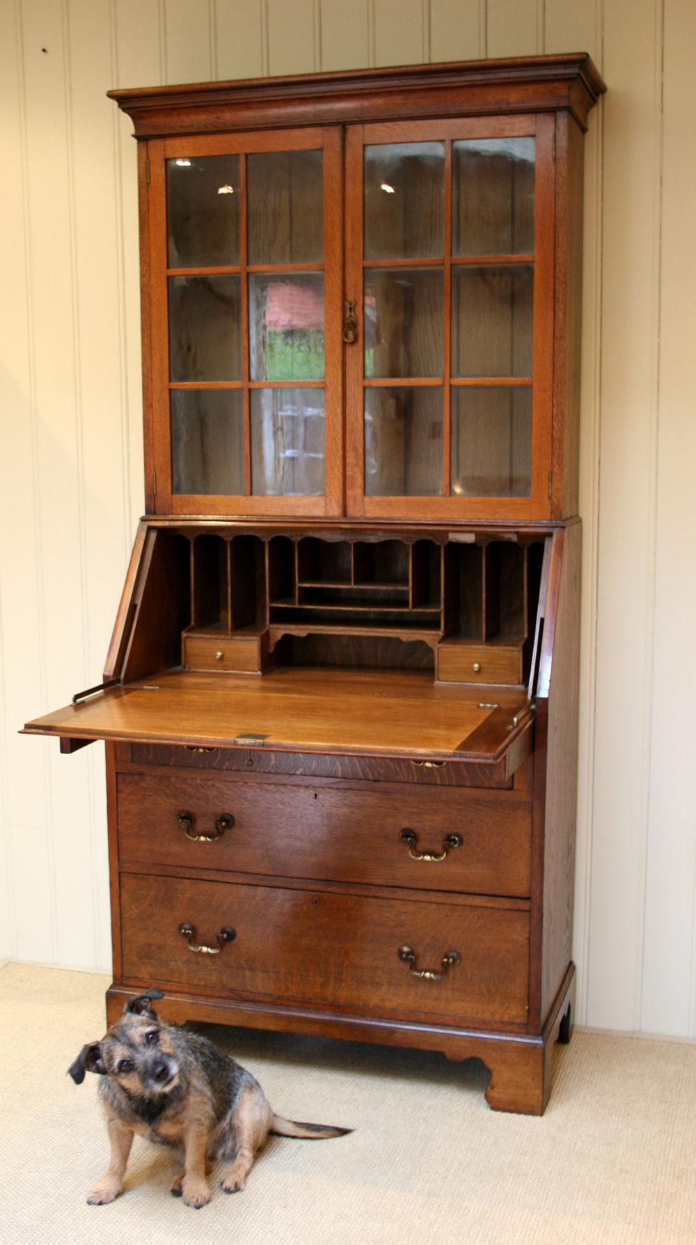 Oak Bureau Bookcase Antiques Atlas