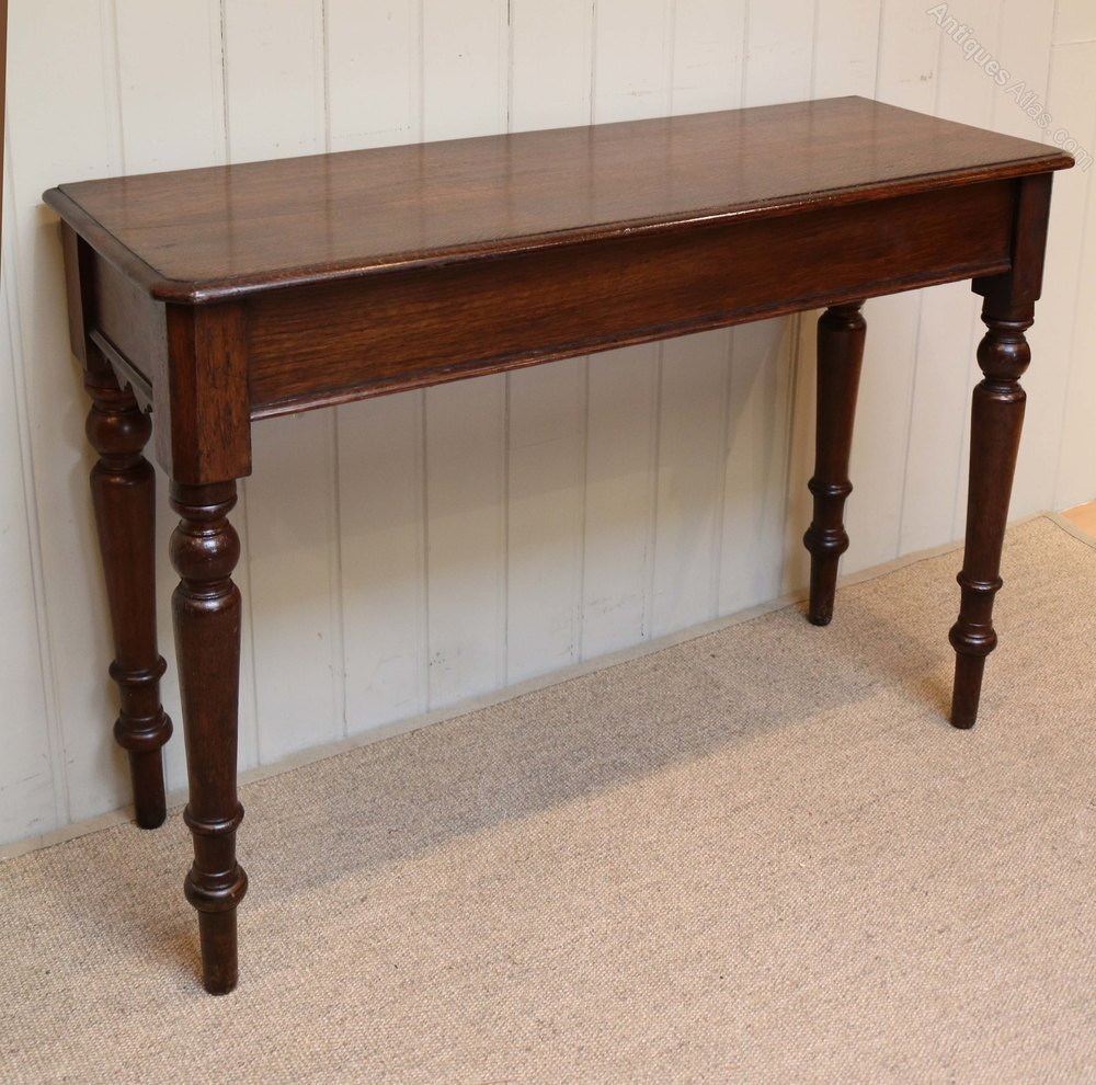 Oak hall console table antiques atlas for Hall console table
